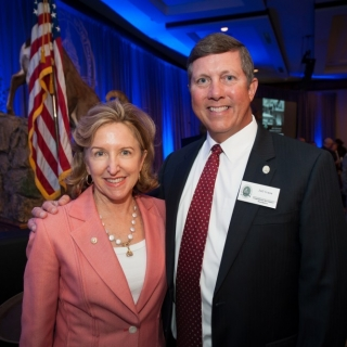 Congressional Sportsmen's Caucus Co-Chair Sen. Kay Hagan (NC) and CSF President Jeff Crane