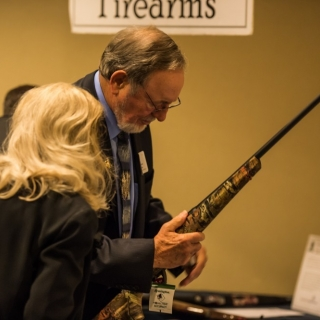 Congressional Sportsmen's Caucus member Rep. Don Young (AK) checking out the auction