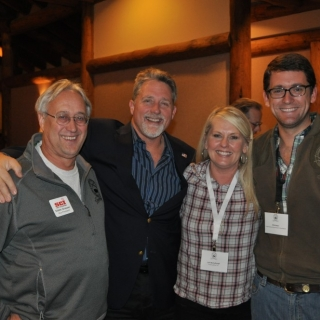 Eddie Grasser (SCI),  CJ Buck (Buck Knives), Lori McCullough (Tread Lightly!), Phil Hoon (CSF)