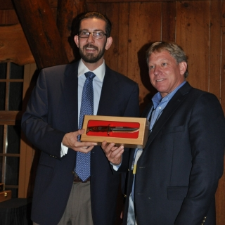 CSF's Brent Miller presenting a NASC award to Rep. Jeff Goley (NH)