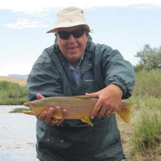Senator Mike Enzi (WY) fishing