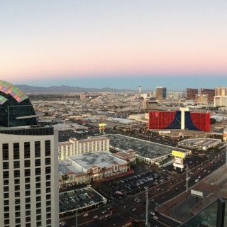 View from the reception venue at the Palms Casino