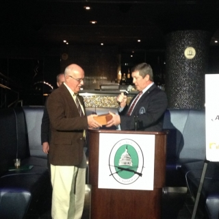 CSF's Jeff Crane presents M.P. Garry Breitkreuz with leadership award