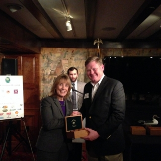 Gov. Maggie Hassan (NH) and Dawson Hobbs (Wine & Spirit Wholesalers of America)