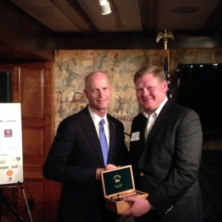 GSC member Gov. Rick Scott (FL) with Dawson Hobbs (Wine & Spirit Wholesalers of America)