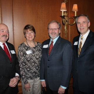 Bob Fackler (Reynolds America), Jay and Jamie Vroom (CropLife America), Jeff Case (CropLife America)