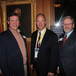 Jeff Crane (CSF President), Governor Matt Mead (WY), Jay Vroom (CropLife America)