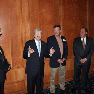 Governor Matt Mead (WY), Governor Terry Branstad (IA), Jeff Crane (CSF President), Governor Earl Ray Tomblin (WV), Governor Phil Bryant (MS)