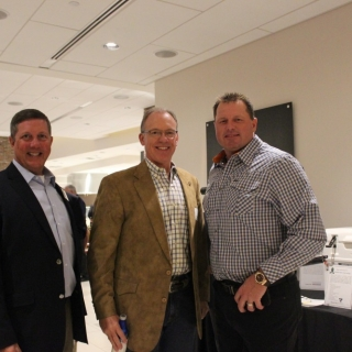 CSF President Jeff Crane, CSF Board Member Bruce Culpepper (Shell), past MLB pitcher Roger Clemens
