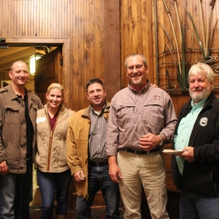 Craig Mischo, Ashley Ellis Smith (Ducks Unlimited), Mike Birdsong, Rep. Herb Frierson (MS), Rep. Craig Miner (CT)
