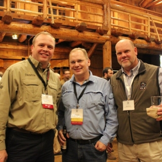 Ryan Bronson (ATK), Rep. Mark Neuman (AK), Blake Henning (Rocky Mountain Elk Foundation)
