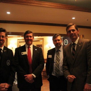 Chris Dorsey (CSF Board, Orion Entertainment), Jeff Crane (CSF), Scott Burnison (Lockheed Martin), Sen. Martin Heinrich (NM)