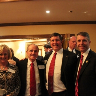 Vicki Risch, CSC Co-Chair Sen. Jim Risch, Jeff Crane (CSF), CSC Co-Chair Rep. Rob Wittman (VA)