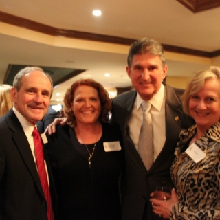 CSC Co-Chair Sen. Jim Risch (ID), CSC Vice-Chair Sen. Heidi Heitkamp (ND), CSC Co-Chair Sen. Joe Manchin (WV), Vicki Risch