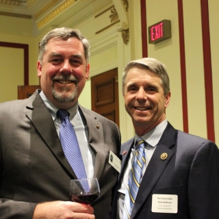 Chairman of the CSF Board, Paul Miller, and Congressman Rob Wittman (VA-R)