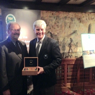 Jay Vroom (CropLife America) and GSC Vice-Chair Gov. Phil Bryant (MS)