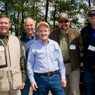 Jeff Crane (CSF President), Skipper Dickson (Sports South), Sen. Jim Risch (ID), Rob Keck (Bass Pro Shops), John Paul Morris (Bass Pro Shops