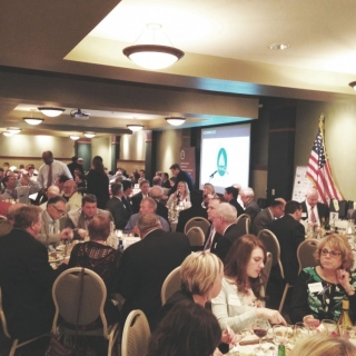 Over 300 sportsmen and women filled the banquet hall for the Illinois Sportsmen's Caucus Dinner and Auction