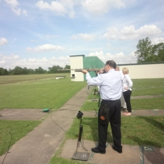 Senator John Boozman (AR) at the shooting range