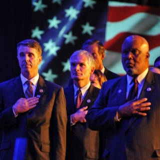 Congressional Sportsmen's Caucus Leadership during the Pledge of Allegiance