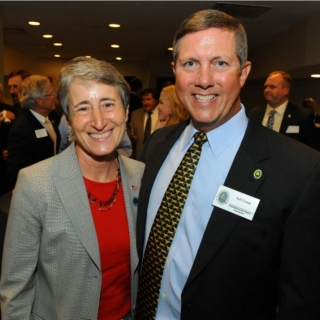 Secretary of Interior Sally Jewell and Jeff Crane (CSF President)