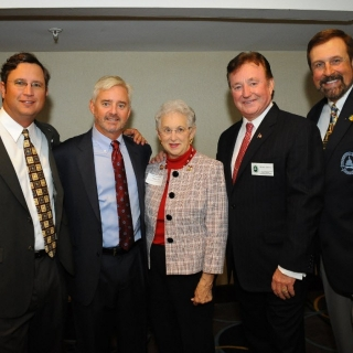 Scott Griffith, Wendall Murphy, Rep. Virginia Foxx (NC), Richard Childress, Rob Keck