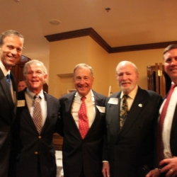 Sen. John Thune (SD), The Hon. Lindsay Thomas, Johnny Morris (Bass Pro Shops), The Hon. Dick Schulze, Jeff Crane (CSF)